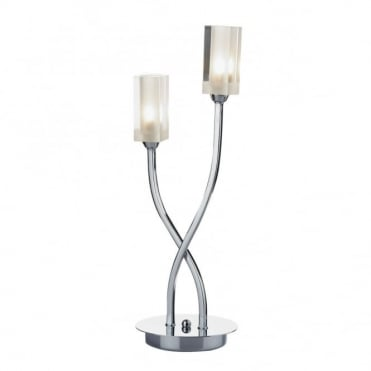 MORGAN - Modern Chrome Table Lamp