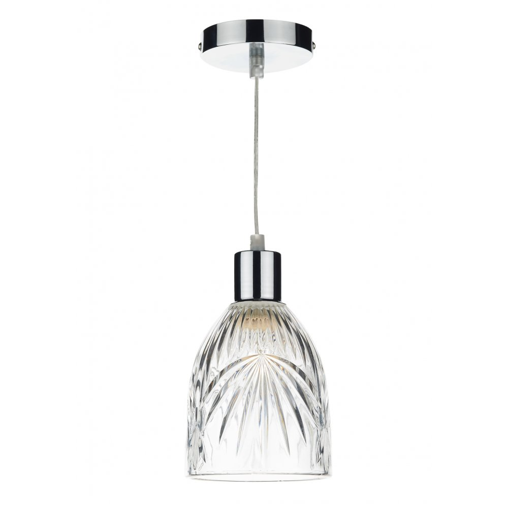 clear cut glass ceiling pendant light shade suitable for any setting