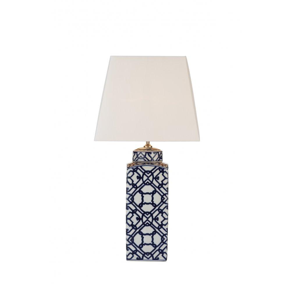 Decorative ceramic blue white table lamp base double insulated mystic table lamp blue white base only aloadofball Choice Image