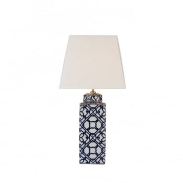 MYSTIC - Table Lamp Blue/ White Base Only