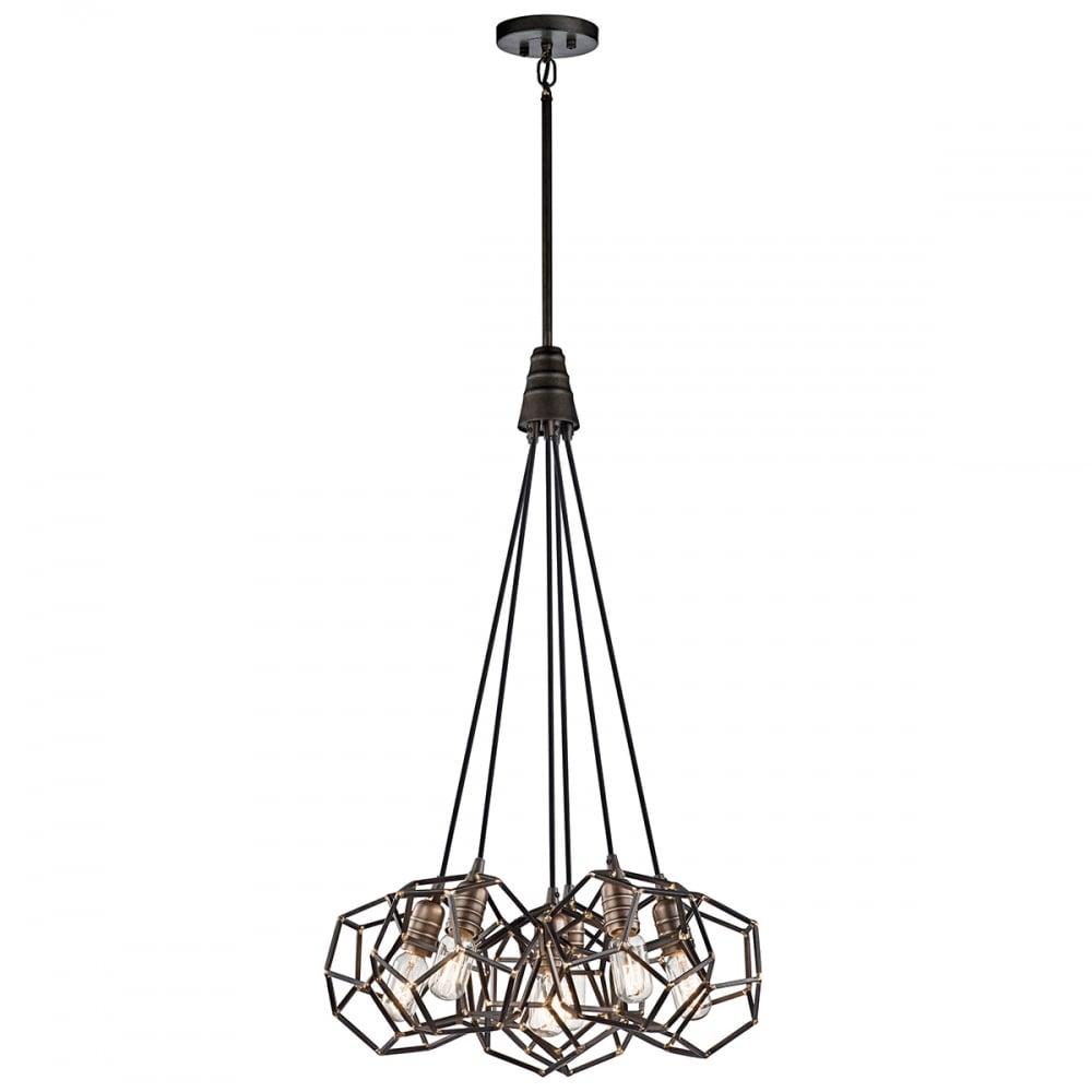 rocklyn 6 light chandelier raw steel