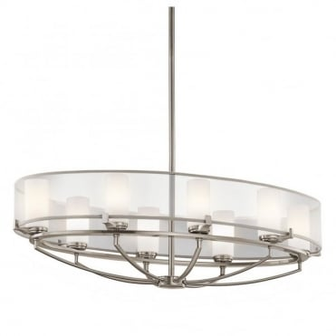 SALDANA - 8 Light Oval Chandelier