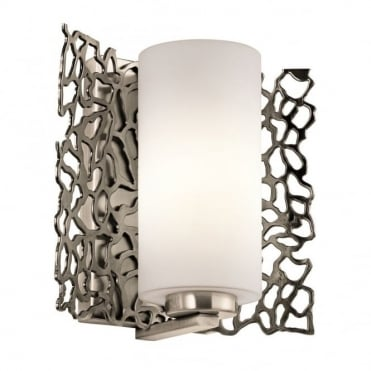 SILVER - Coral Wall Light