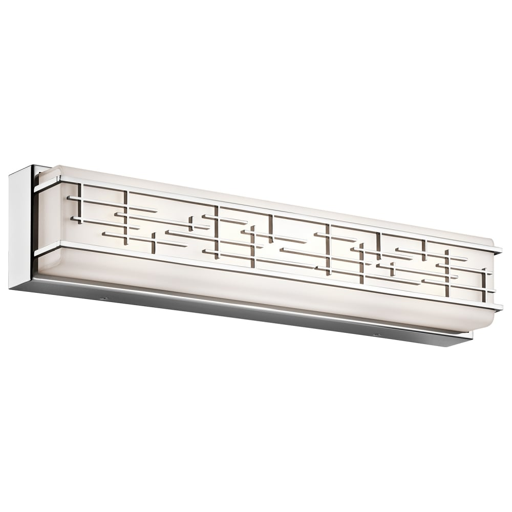 linear bathroom lighting large linear led geometric bathroom wall light white 13501