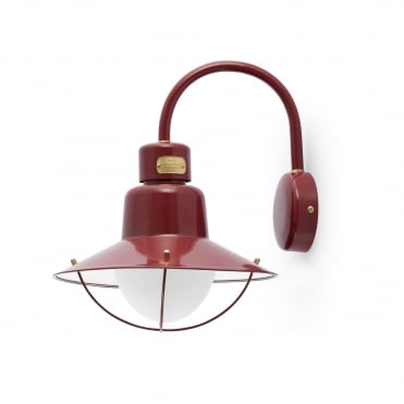 NEWPORT Retro Exterior Wall Light in Red