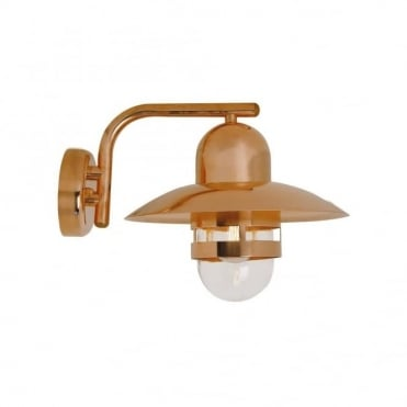 NIBE - Exterior Wall Light Copper and Clear Glass