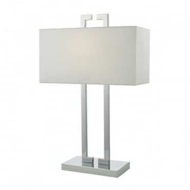 NILE - Table Lamp Polished Chrome Complete With Shade Polished Chrome