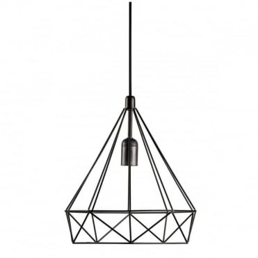 AIRE - Modern Geometric Cage Ceiling Pendant Black