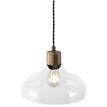 ALRUN - Elegant Clear Glass Ceiling Pendant
