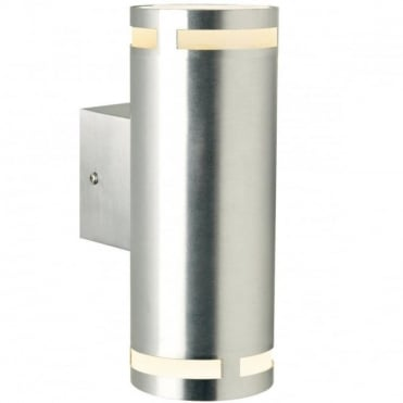 CAN - Double Cylindrical Exterior Wall Light Aluminium