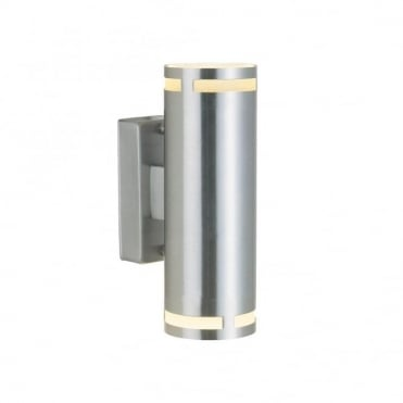 CAN - Double Cylindrical Exterior Wall Light Stainless Steel