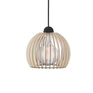 CHINO 25 - Ceiling Pendant in Slatted Wood