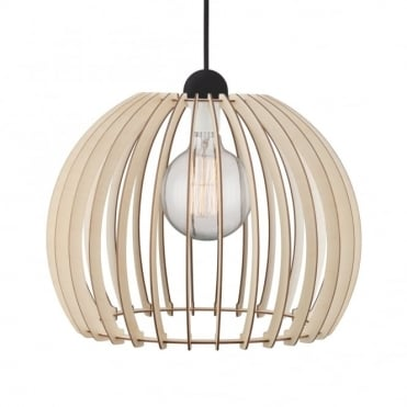 CHINO 40 - Ceiling Pendant in Slatted Wood