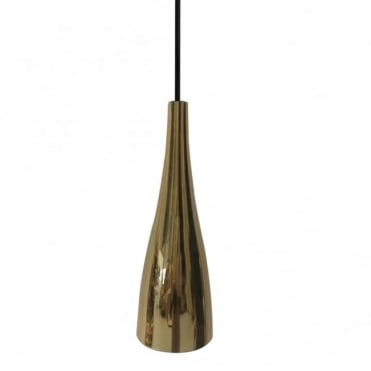EMBLA - Sleek Modern Tapered Gold Glass Ceiling Pendant
