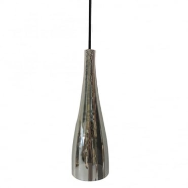 EMBLA - Sleek Modern Tapered Silver Glass Ceiling Pendant