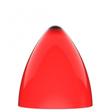 FUNK red pendant light shade (part of a set)