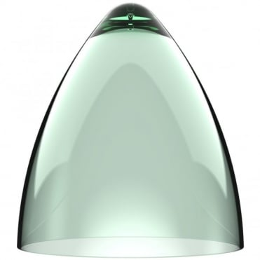 FUNK transparent green large pendant light shade (part of a set)