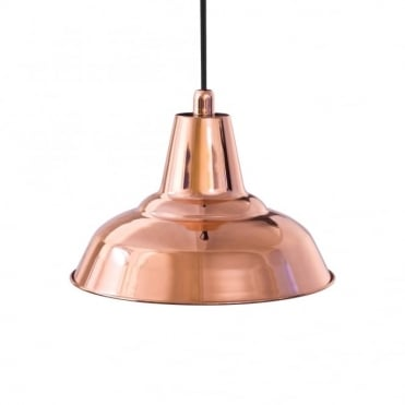 LYNE - Industrial Retro Ceiling Pendant in Polished Copper