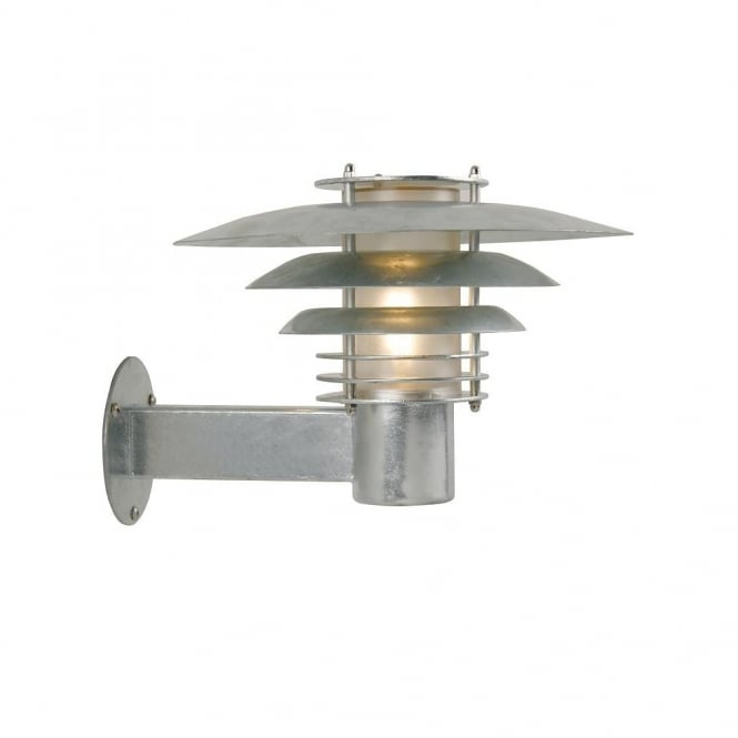 Small Exterior Wall Light Galvanised Steel - Lighting and Lights UK