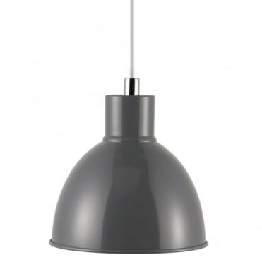 POP - Retro Metal Ceiling Pendant in Anthracite Grey