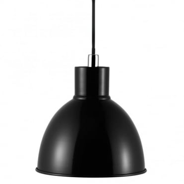 POP - Retro Metal Ceiling Pendant in Black