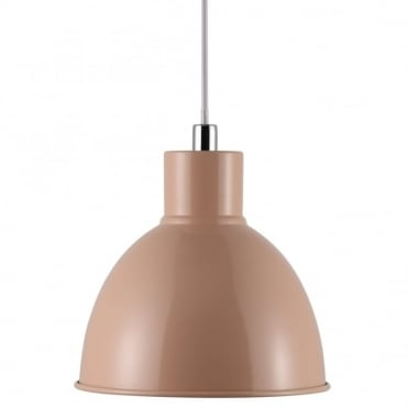 POP - Retro Metal Ceiling Pendant in Soft Peach