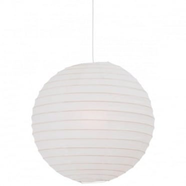 RICE PAPER - Easy Fit Globe Ceiling Lampshade 48 cm