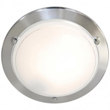 SPINNER - Flush Ceiling Light Brushed Steel