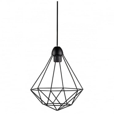 TEES - Geometric Ceiling Pendant Black