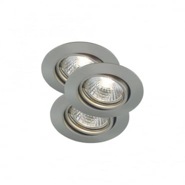 TRITON - GU10 Recessed Spot Lights Brushed Steel