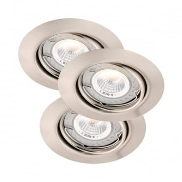 TRITON LED COB - Dimmable Brushed Steel Recessed Ceiling Spot Light