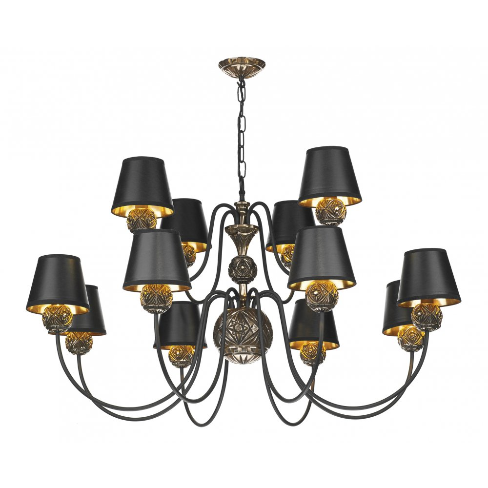 Decorative 12 Light Rustic Ceiling Hanging Light For Traditional Homes