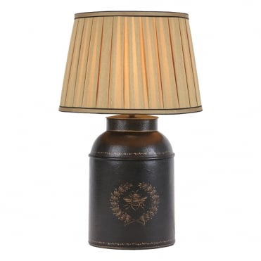 ODA Table Lamp Oval Tea Can Black Bee Base Only
