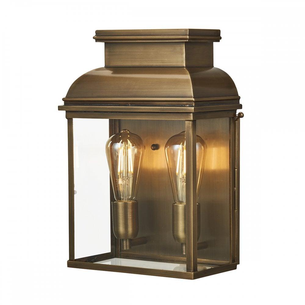 Bailey Large Wall Lantern Aged Brass Lighting And Lights Uk