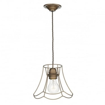 OREGON - 1 Light Pendant Small Bronze Spare Shade