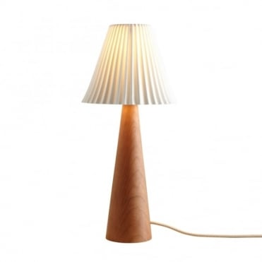 CECIL - Table Light Cherry Cone Sand And Taupe Braided Cable