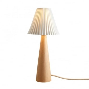 CECIL - Table Light Oak Cone Sand And Taupe Braided Cable