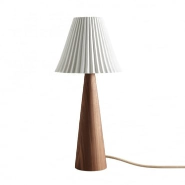 CECIL - Table Light Walnut Cone Sand And Taupe Braided Cable