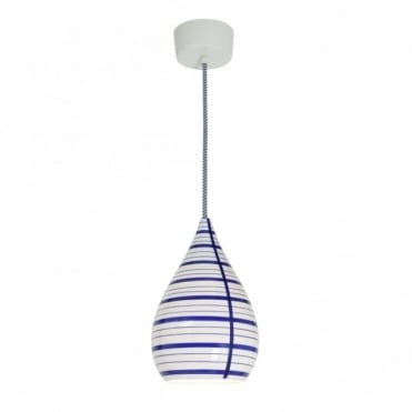 CIRCLE - Line Drop Ceiling Pendant Blue/White