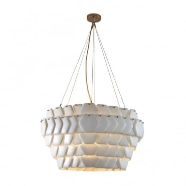 CRANTON - Hexagonal Ceiling Pendant Sand And Taupe Braided Cable