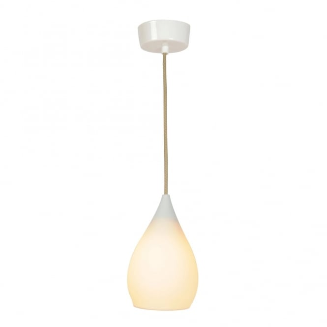 DROP - One Small Ceiling Pendant Light White Gloss