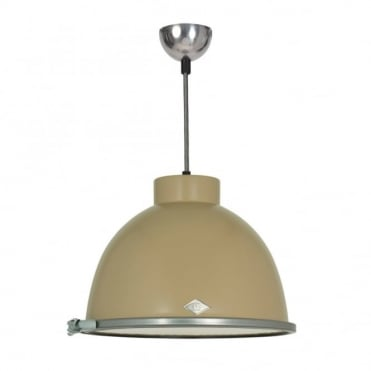 GIANT - Pendant Light Beige With Wired Glass
