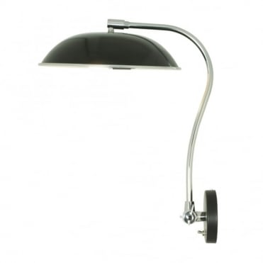HUGO - Wall Light Black, Retro Style with Toggle Switch