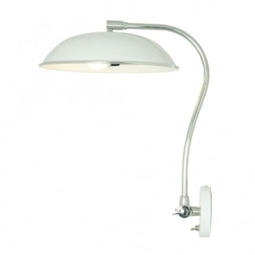 HUGO - Wall Light White, Retro Style with Toggle Switch