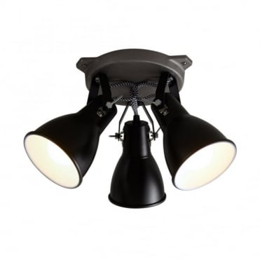 STIRRUP - Triple Ceiling Light Black