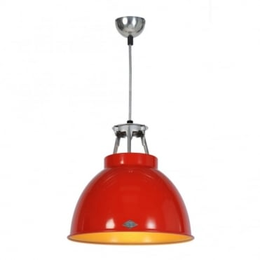 TITAN - Size 1 Ceiling Pendant Light Red/Gold Interior
