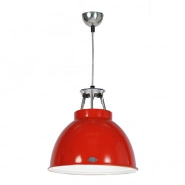 TITAN - Size 1 Ceiling Pendant Light Red/White Interior