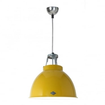 TITAN - Size 1 Ceiling Pendant Yellow/White Interior