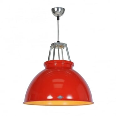 TITAN - Size 3 Ceiling Pendant Light Red/Gold Interior