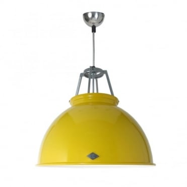 TITAN - Size 3 Ceiling Pendant Yellow/White Interior